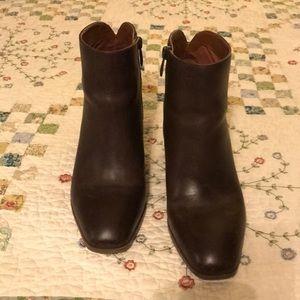 Franco Sarto Brown Leather Booties